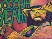 Wwf Framed Prints - Macho Man Framed Print by Derek Donnelly