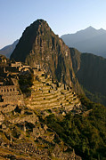 Machu Picchu Posters - Machu Picchu at dawn Poster by Matt Tilghman