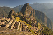 Mountain Photos - Machu Picchu At Dawn Near Cuzco Peru by Colin Monteath