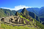 Famous Place Tapestries Textiles - Machu Picchu by Kelly Cheng Travel Photography