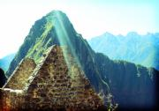 World Wonder Posters - Machu Picchu Triangle Poster by Ariane Moshayedi