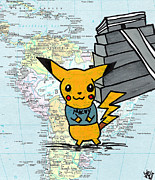 Temple Drawings - Machu Pikachu by Jera Sky