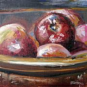 Wooden Bowl Paintings - Macintosh by Janice Tanton