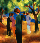 Macke Framed Prints - Macke: Green Jacket, 1913 Framed Print by Granger
