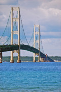 Mackinac Bridge Print by Michael Peychich