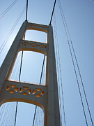 Suspension Posters - Mackinac Bridge Poster by Michelle Calkins