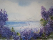 Northern Michigan Paintings - Mackinac Island Lilacs by Sandra Strohschein