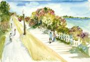 Bicycling Paintings - Mackinac Island Memories by Sandra Strohschein