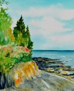 Maine Seacoast Paintings - Mackworth Island Maine  by Brenda Owen