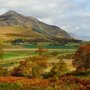 Scottish Digital Art - Macpherson Autumn - The Clan MacPhersons Seat  by John Kelly