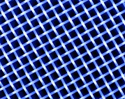 Polyester Framed Prints - Macrophoto Of A Lattice Of Polyester Silk Fibres Framed Print by Pasieka