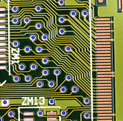 Printed Circuit Prints - Macrophotograph Of Printed Circuit Board Print by Dr Jeremy Burgess