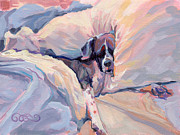 Brindle Painting Prints - Macy Lou Hoo Snooze Print by Kimberly Santini