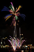 4th July Photo Framed Prints - Macys Fireworks I Framed Print by David Hahn
