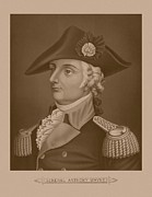 Patriot Mixed Media Metal Prints - Mad Anthony Wayne Metal Print by War Is Hell Store
