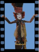 Johnny Mixed Media Posters - Mad As A Hatter Poster by Cathi Doherty