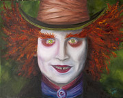 Mad Hatter Painting Framed Prints - Mad as a Hatter Framed Print by Thea Wolff