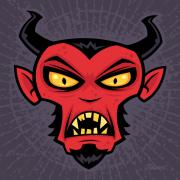 Satan Prints - Mad Devil Print by John Schwegel