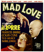 Lorre Posters - Mad Love, Frances Drake, Peter Lorre Poster by Everett