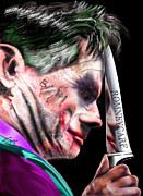 Batman Paintings - Mad Men Series 2 of 6 - Romney the Joker by Reggie Duffie