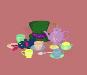 Mad Tea Party Print by K Martinez