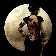 Luna Metal Prints - Madame Butterfly Metal Print by Jose Luis Munoz Luque