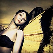 "Fantasy Art - ""madame Butterfly"" Original Fantasy by Sandra Bauser"
