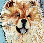 Dog Portraits Pastels Prints - Madame Chu Cho Print by Pat Saunders-White