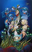 Sea Anemone Posters - Madame Clawdia dBouclier from Mask of the Ancient Mariner Poster by Patrick Anthony Pierson