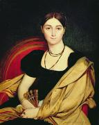 Necklace Paintings - Madame Devaucay by Jean Auguste Dominique Ingres