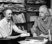 Physicist Photos - Madame Joliot-curie Visits Of Albert by Everett