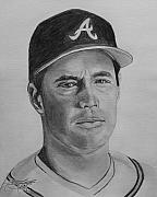 Atlanta Braves Drawings - Maddux by Ryan Fritz