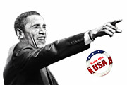 Barack Obama  Prints - Made for USA Print by Stefan Kuhn