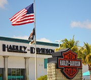 Harley Davidson Road King Motorcycles Photos - Made in America by Rene Triay