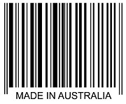 Retail Framed Prints - Made In Australia Barcode Framed Print by David Freund