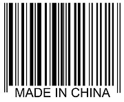 Western Script Prints - Made In China Barcode Print by David Freund