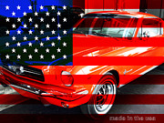 Domestic Car Art - Made In The USA . Ford Mustang by Wingsdomain Art and Photography