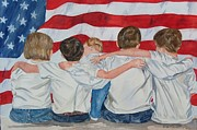 Patriotic Paintings - Made in The USA by Paula Robertson