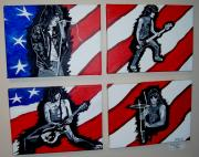 Ramones Prints - Made in USA  4 seperate pcs Print by Douglas Kriezel
