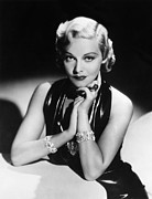 Diamond Bracelet Prints - Madeleine Carroll, 1936 Print by Everett