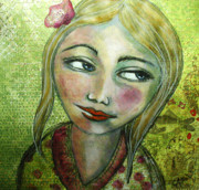 Contemplative Paintings - Madelyn II by Christy Sobolewski