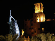 Architecture Photo Originals - Madinat and Burj Al Arab Hotels by Graham Taylor