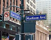 New York Digital Art Metal Prints - Madison Ave New York Metal Print by Vijay Sharon Govender