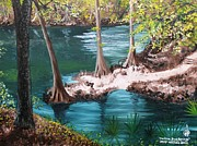 Madison Painting Framed Prints - Madison Blue Springs Framed Print by Larry Whitler