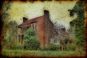 Rural Decay  Digital Art Metal Prints - Madison Heights Mansion Metal Print by Sari Sauls