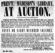 Auction Posters - Madison: Library Auction Poster by Granger