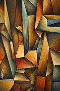 Boxes Paintings - madness by Michael Lang