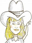 Cowboy Hat Mixed Media - Madonna by Al Elumn