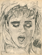 Dancer Art Drawings Posters - Madonna Poster by Allen Walters
