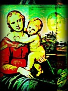 Madonna Digital Art - Madonna And Child After Raphael by Terry Collett